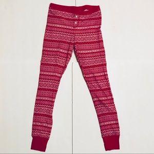 Old Navy Pink Fair Isle Waffle-Knit Leggings